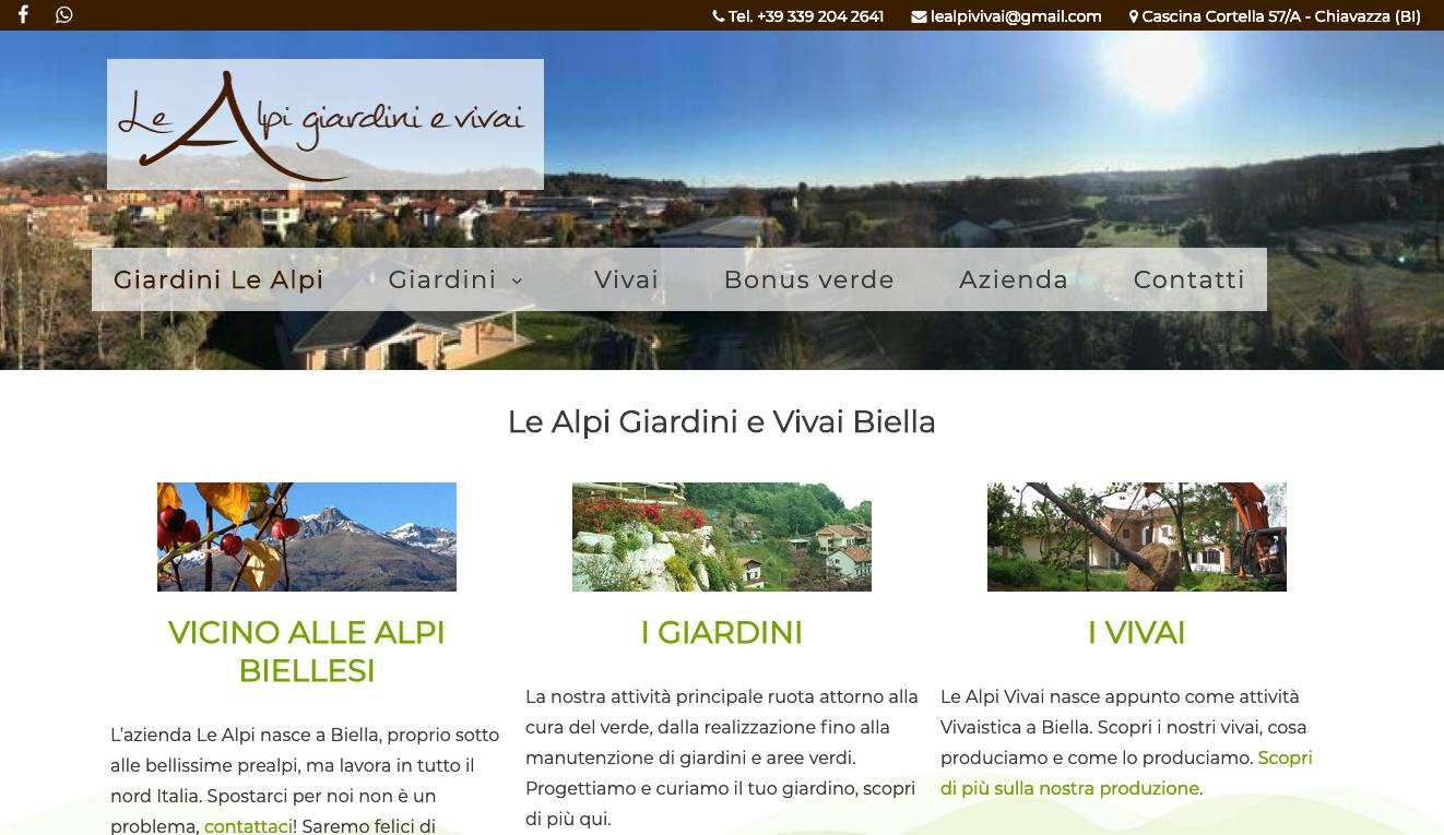Le Alpi Giardini e Vivai